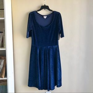 LuLaRoe Dresses - 🔥SALE NWT [LulaRoe] Crushed Velvet Nicole Dress